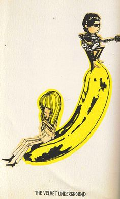 velvet underground and nico, by Andy Warhol, Pop Art, Illustration.