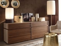 MODERN WOODEN CREDENZA | Memos luxury modern Italian sideboard fully upholstered in brown leather | See more at: http://www.bocadolobo.com #moderncabinets #luxurycabinets Interior design Ideas, decorating ideas, unique, Design Ideas, decorative, interior decorator, interior design styles, Luxury Houses, contemporary, modern, mid Century, vintage, chic.
