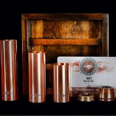 Minotaur mod by @blacksmithmodz Releasing Feb 1, 2014 all 3 tubes, magnetic switch, copper pins and custom hand crafted wood box only 300 of these Will be available at @vapenoize  @Vape Tribe  @cloudz_sd  @bzvapin @vapingroybot  #blacksmithmods #vapenoize #vape #mod #copper #coppermod #calivapers #vapela #Padgram