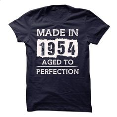 MADE IN 1954 - AGED TO PERFECTION!!! - #boyfriend shirt #tshirt stamp. CHECK PRICE => https://www.sunfrog.com/LifeStyle/MADE-IN-1954--AGED-TO-PERFECTION-18065023-Guys.html?68278
