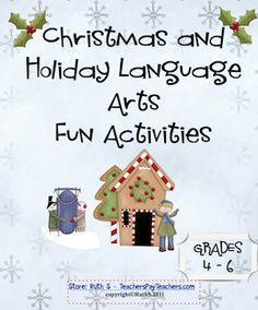 33 pages of fun Language Arts worksheets Grades 4 - 6