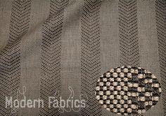 Designtex Faconne Cocoa Verde Green Modern Bold Floral Upholstery Fabric