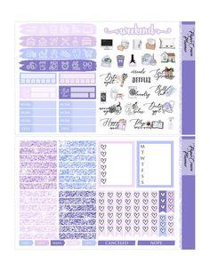 Free Planner, Planner Pages, Happy Planner, Weekly Planner, Printable Planner Stickers, Journal Stickers, Erin Condren, Travelers Notebook, Planner Supplies