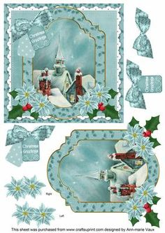 Rooftops ChristmasGreetings 6in Christmas Step by Step on Craftsuprint - Add To Basket!