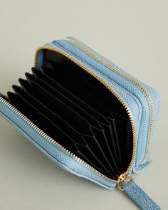 Mini Petra Caviar Leather Double Zip Cardholder – WANT Apothecary CA Petra, Caviar, Apothecary, Zip Around Wallet, Card Holder, Fashion Jewelry, Mini, Leather, Rolodex