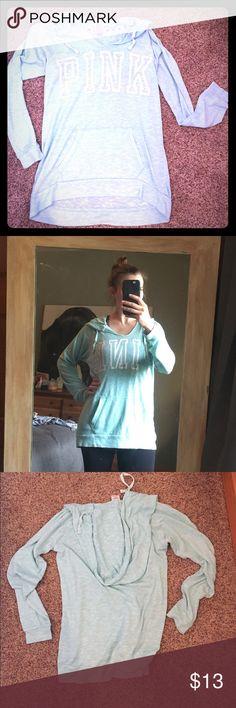 VS PINK lightweight sweatshirt! VS PINK terry sweatshirt/swim cover! Some pilling and signs of wear. PINK Tops Sweatshirts & Hoodies