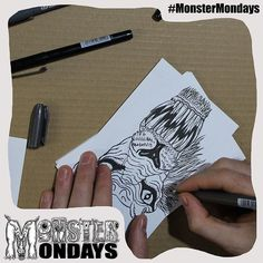 OK now it is starting to come together...nearly see what it is :) Create Art Raise Awareness and manage your monsters! #MonsterMondays #monster #drawing #penandink #art #instaart #instaartist #artist #mentalhealth #mentalhealthawareness #anger #illustration #wip #lion #graphic #anxiety #depression #smashthestigma #stigmafighter #suicideawareness #mentalhealthmatters #recoveryispossible #mentalhealthrecovery