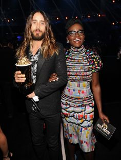 Jared Leto and Lupita Nyong'o at the MTV Movie Awards