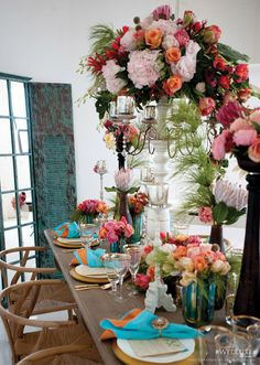 great contrast in color and texture - great dinner party idea.