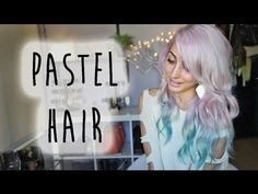 ▶ Pastel Pink ∆ Dip Dyed Teal Hair   Brittany Balyn - YouTube
