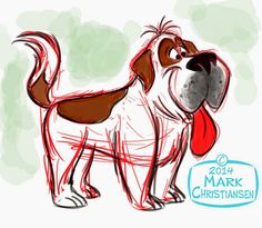 Mark Christiansen's Art and Cartoon Blog: DOGGIE DESIGN! #StBernard #dog ★    CHARACTER DESIGN REFERENCES (www.facebook.com/CharacterDesignReferences & pinterest.com/characterdesigh) • Love Character Design? Join the Character Design Challenge (link→ www.facebook.com/groups/CharacterDesignChallenge) Share your unique vision of a theme every month, promote your art and make new friends in a community of over 25.000 artists!    ★