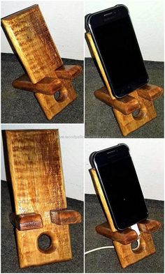 pallets made mobile stand