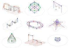 Baixe arquivos CAD para teu projeto: parques infantis e equipamentos para espaço público