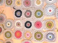 a granny square blanket  - pattern can be found on Alicia Paulson's blog