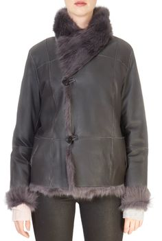 This is the stunning 'Macao' Grey Reversible Sheepskin Coat from our friends at Intuition! SHOP NOW! Sheepskin Coat, Grey Wash, Intuition, Taupe, Shop Now, Bomber Jacket, Clothing, Jackets, Shopping