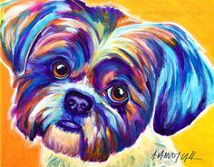 Hey, I found this really awesome Etsy listing at https://www.etsy.com/listing/244992540/shih-tzu-pet-portrait-dawgart-dog-art