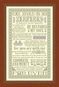 Lord is my Shepherd cross stitch pattern