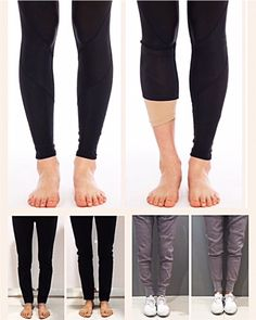 A fix for bowed legs, bandy legs, skinny legs or O-shaped legs. Legi is a patented cosmetic support to correct the appearance of bow legs under tight pants, skinny jeans & activewear. Skinny Calves, Skinny Legs, How To Wear Leggings, Best Leggings, Bow Legged Correction, Tights Outfit, Body Shapes, What To Wear, Exercises