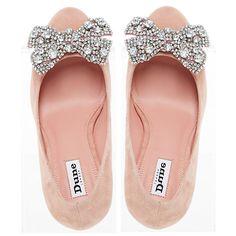 Buy Dune Bambi Block Heeled Embellished Court Shoes Online at johnlewis.com