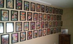Cheap and easy way to hang up your favorite comics! My boyfriend loves this idea.