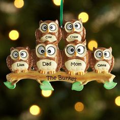 Owl Family Ornament | Personal Creations