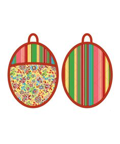 Take a look at this Parlor Deux Oval Oven Mitt - Set of Two by Kennedy International on #zulily today!