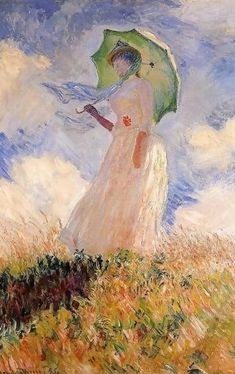 Woman With A Parasol Aka Study Of A Figure Outdoors (Facing Left). Monet Claude