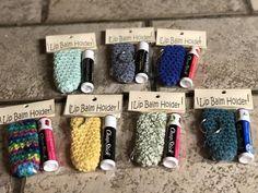 Crochet cotton lip balm holders ready to ship Crochet Keychain Pattern, Crochet Bookmarks, Crochet Christmas Gifts, Crochet Gifts, Yarn Projects, Crochet Projects, Paracord Projects, Crochet Quilt, Crochet Yarn