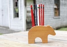 Blissful Bear Pencil Holder