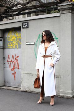 Anna Russka Street Style MILAN Fashion Week Max Mara total look