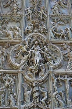 Detail of the Pieta from Milan Cathedral in Italy.