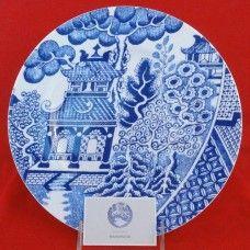 Wedgwood After Willow Plate Pagoda Ceramic Plates, Decorative Plates, Tea Illustration, Wedgwood, Blues, China, Ceramics, Fabric, Pottery Plates