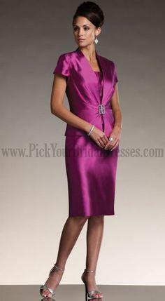 Two-piece silk shantung suit sleeveless slim knee-length dress