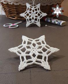 Macramotiv micro-macrame knotted snowflake macramotiv.com how to knotting snowflake ornament migramah DIY makramé csomózás macramee christmas ornament instructions step-by-step steps handcraft