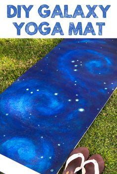 Easily transform a plain yoga mat into a beautiful galaxy.