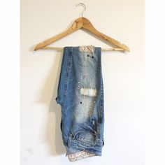 Distressed Skinny Jeans mudd skinny jeans — ripped, patched, stitched — size 3/three Mudd Jeans Skinny