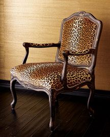 I Have A Chair Iu0027ve Always Wanted To Upholster In This Fabric! The Black  Paint Really Sets It Off! | Leopard Chairs | Pinterest | Leopards, Leopard  Cu2026