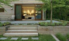 Patio Steps, Diy Patio, Backyard Patio, Wood Steps, Flagstone Patio, Brick Patios, Concrete Patio, Garden Planter Boxes, Patio Planters