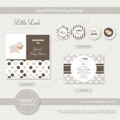 Little Lamb Shower Printable Baby Shower by taniasdesignstudio, $35.00
