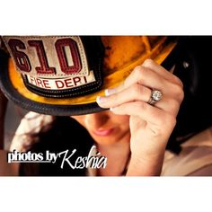 Firefighter Engagement Pictures by Keshia Kastl - Oklahoma photographer