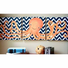 Aww Andy could do something like this for Koda's nursery but not octopus