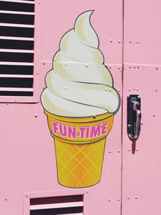 A pink ice cream truck is the best kind of ice cream truck.