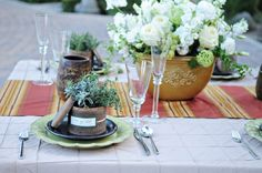 Italian Stemware Tuscan Table Wedding