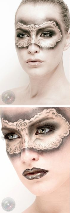 Masquerade makeup--wow, this is stunning