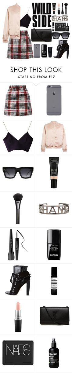 """Sorry Sorry"" by tamaramanhardt ❤ liked on Polyvore featuring Carven, Joana Almagro, Cameo Rose, CÉLINE, Lancôme, Gucci, Chanel, MAKE UP FOR EVER, le top and Alexander Wang"