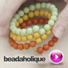 Tutorial - Videos: How to Make a Memory Wire Bracelet with Pastella Beads | Beadaholique