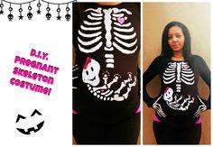 Last Minute Costume: DIY Pregnant Skeleton