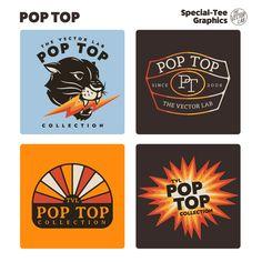 Pop Top - TheVectorLab Store Signage, Affinity Photo, Affinity Designer, Graphic Design Software, Photoshop Illustrator, Coreldraw, One Design, Graphic Design Inspiration, Vector Graphics