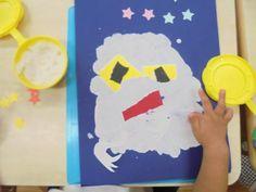 2歳児 8月 製作「おばけ」   蓮美幼児学園千里丘キンダースクールブログ