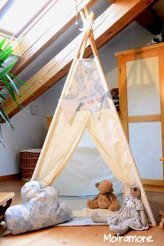 Tenda teepee in cotone per suggestivi angoli gioco : Giochi, giocattoli di moiramore
